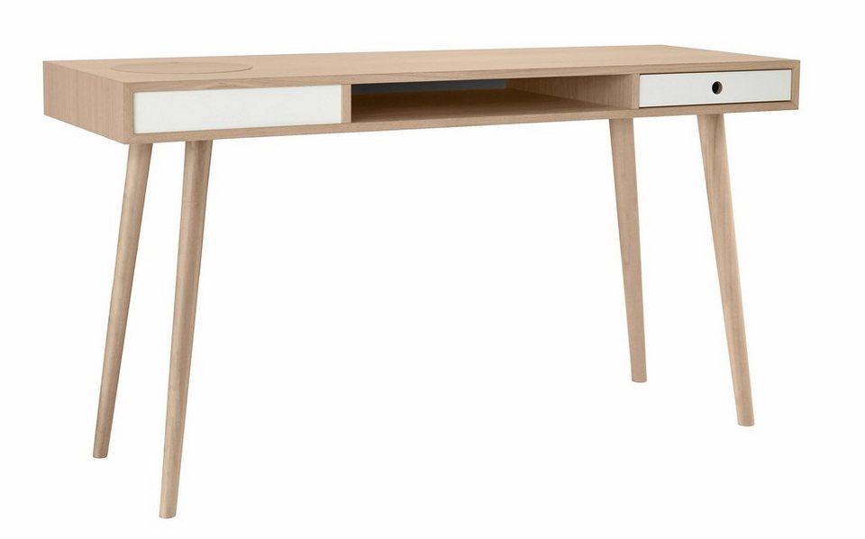 andas Schreibtisch »Classic«, Nordic Design in white oak in white oak