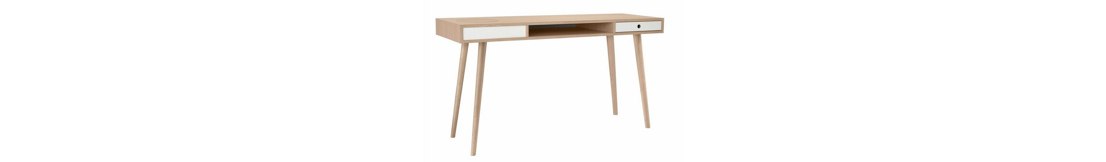 andas Schreibtisch »Classic«, Nordic Design in white oak