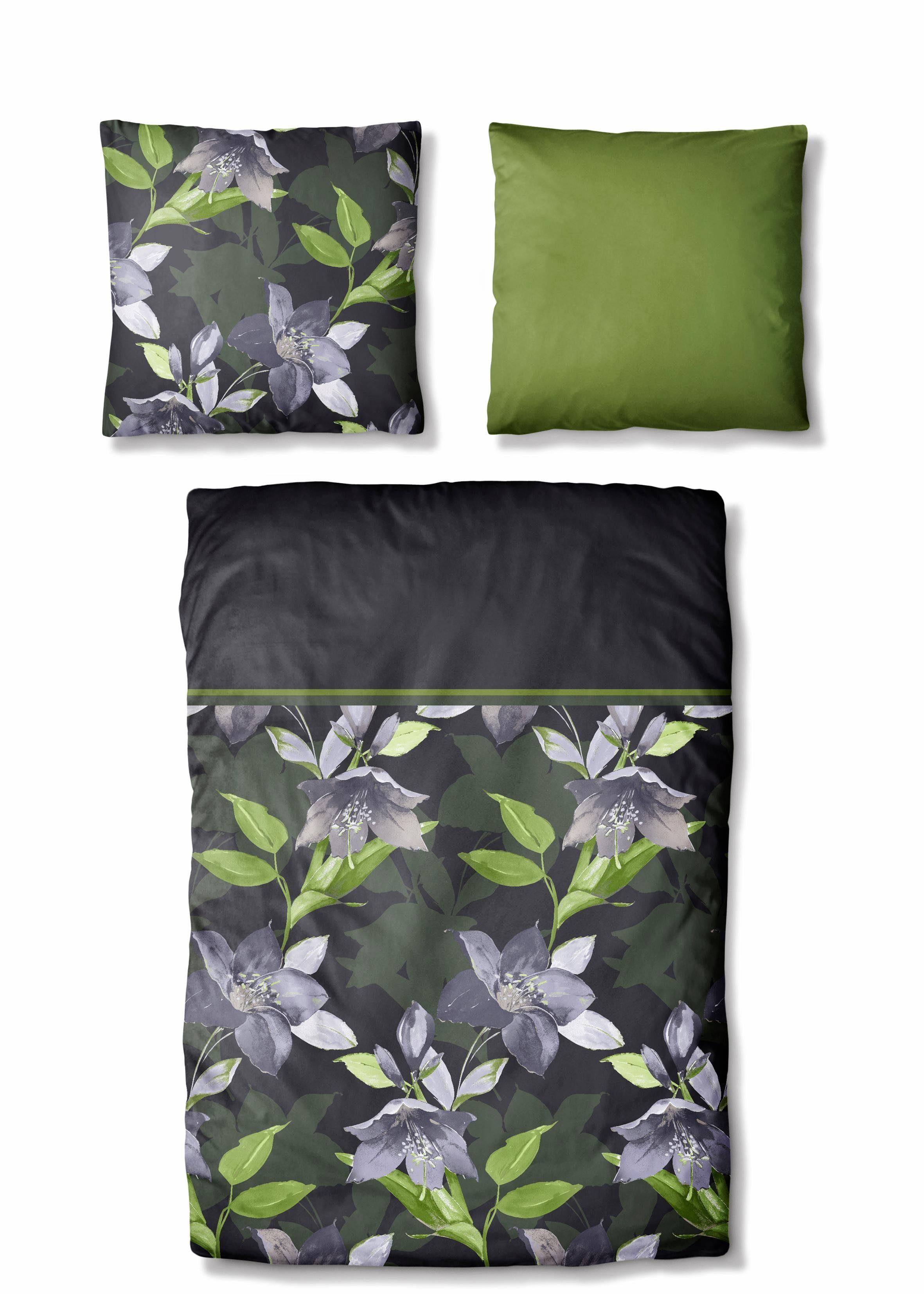 Bettwäsche, Auro Hometextile, »Hedge«, mit Blüten
