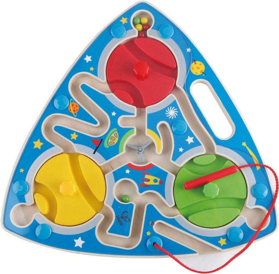 Hape Magnetspiel aus Holz, »Labyrinth Weltall«