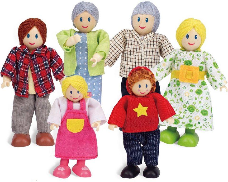 Hape Puppen Set, »Puppenfamilie Helle Hautfarbe«
