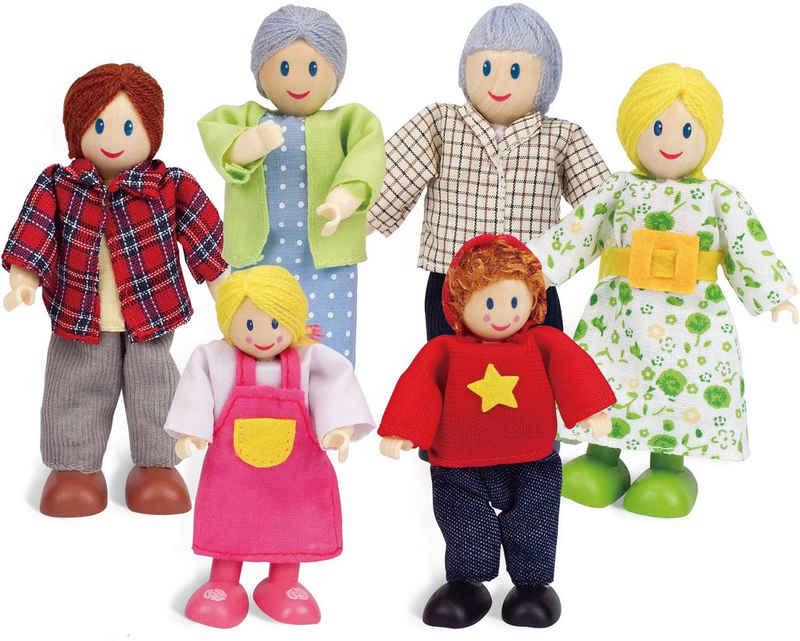 Hape Stoffpuppe »Puppenfamilie« (Set, 6-tlg)