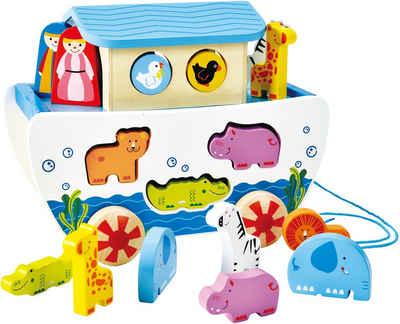 Nachziehspielzeug mit Musik Lustige Hühnerfamilie NEU bunt Holzspielzeug