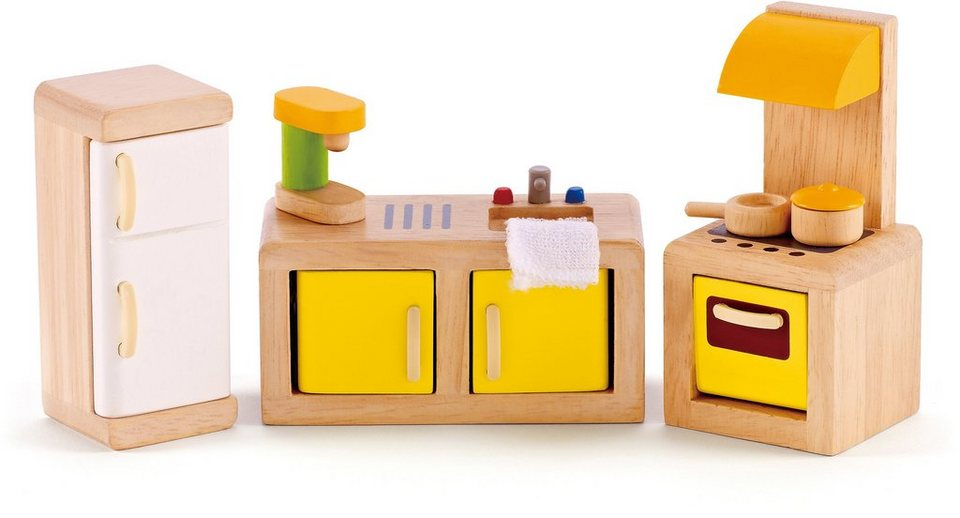 hape puppenstubenm bel k che online kaufen otto. Black Bedroom Furniture Sets. Home Design Ideas