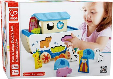 Hape Nachziehspielzeug mit mit mit Holztieren,  Nachzieh-Arche  online kaufen 4d4e0e