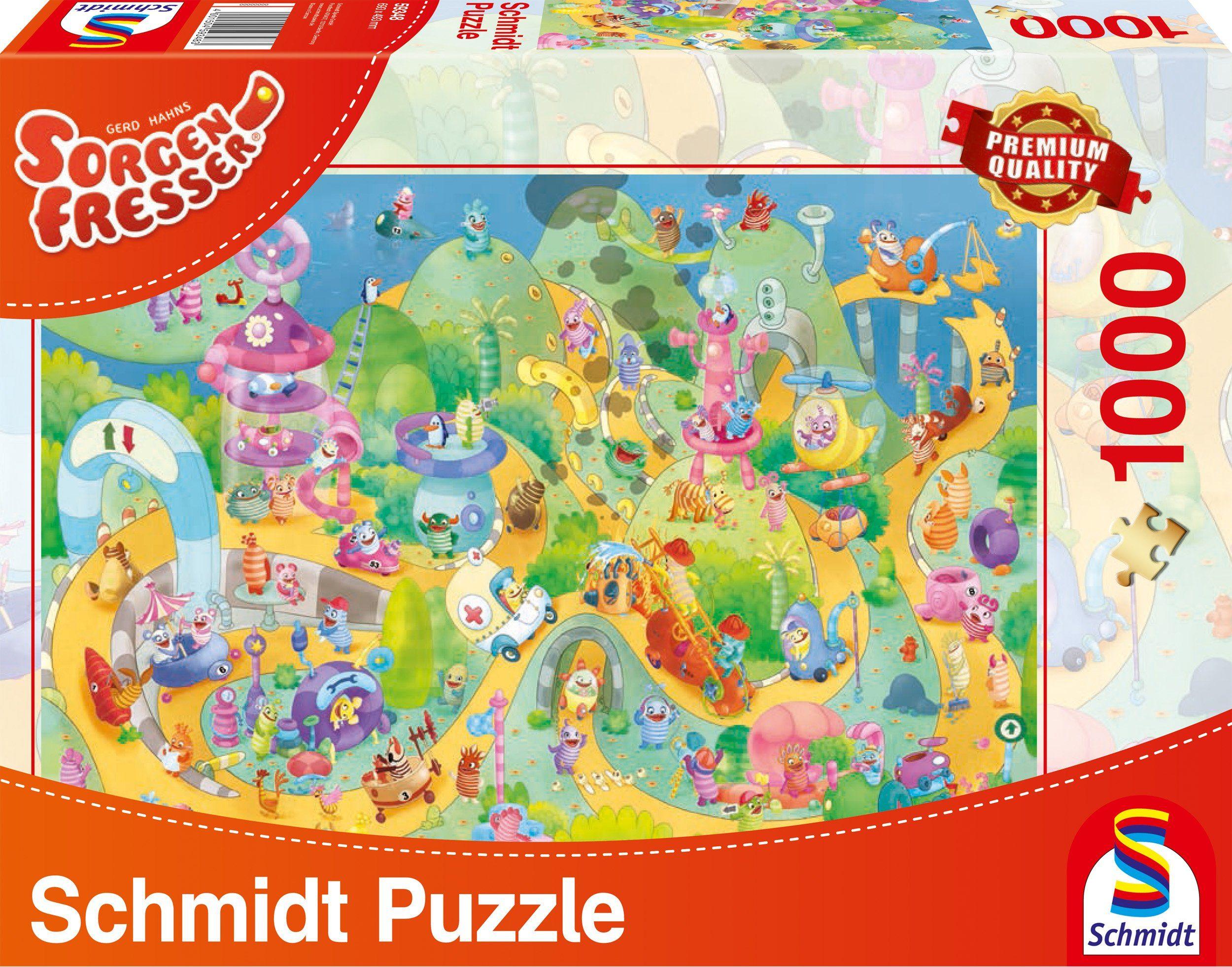 Schmidt Spiele Puzzle mit 1000 Teilen, »Sorgenfresser, Auf die Plätze, fertig, los!«