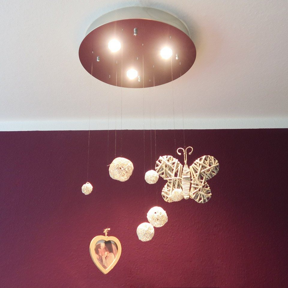 s.LUCE Deckenlampe »Cosmos Unlimited Ø 50 cm« in Silber