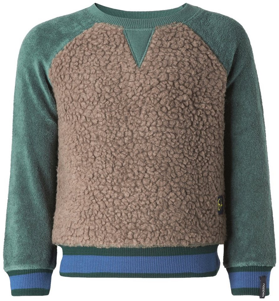 NOPPIES Sweater »Beaverton« in Light Green