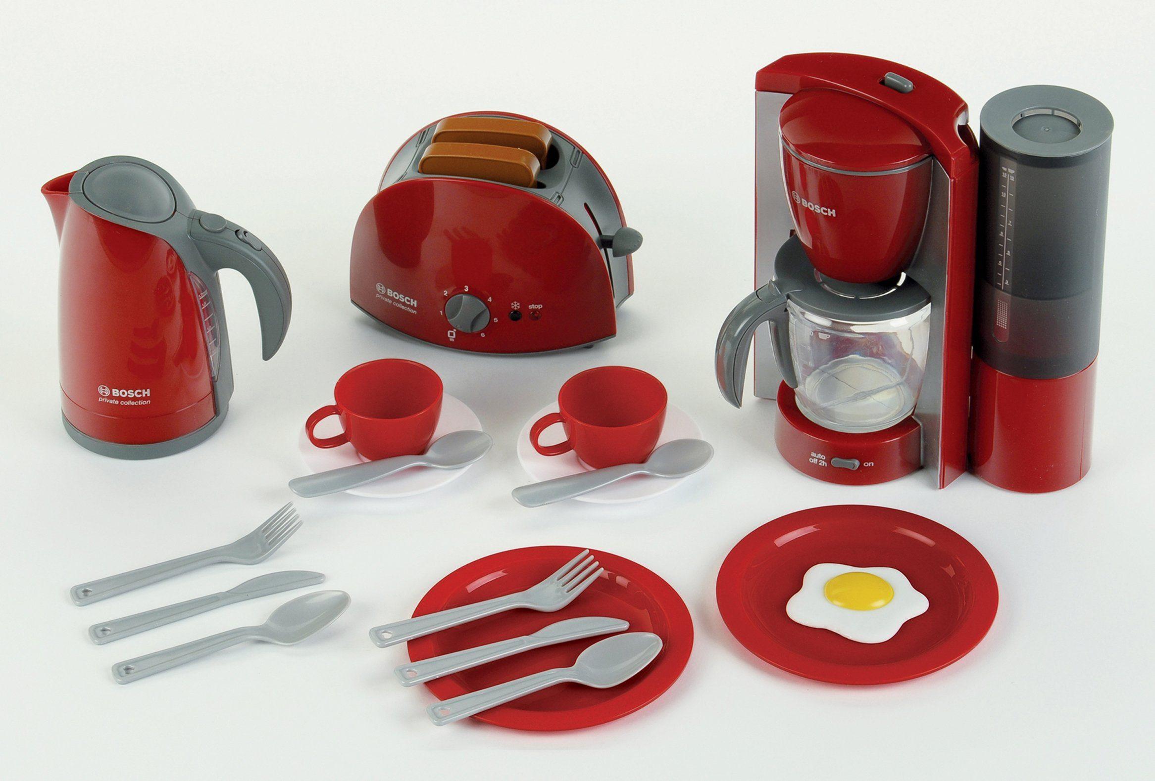 Klein Spielküchen Set besteht aus Spielwasserkocher, -toaster, -kaffeemaschine, »Bosch Frühstückset«