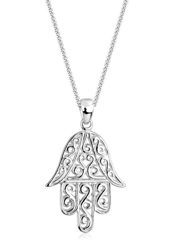 Elli Halskette »Hamsa Hand Spirituell 925 Sterling Silber« in Silber