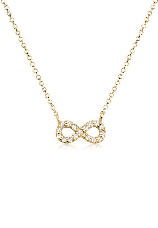 Goldhimmel Halskette »Infinity Zirkonia 925 Sterling Silber vergoldet« in Gold