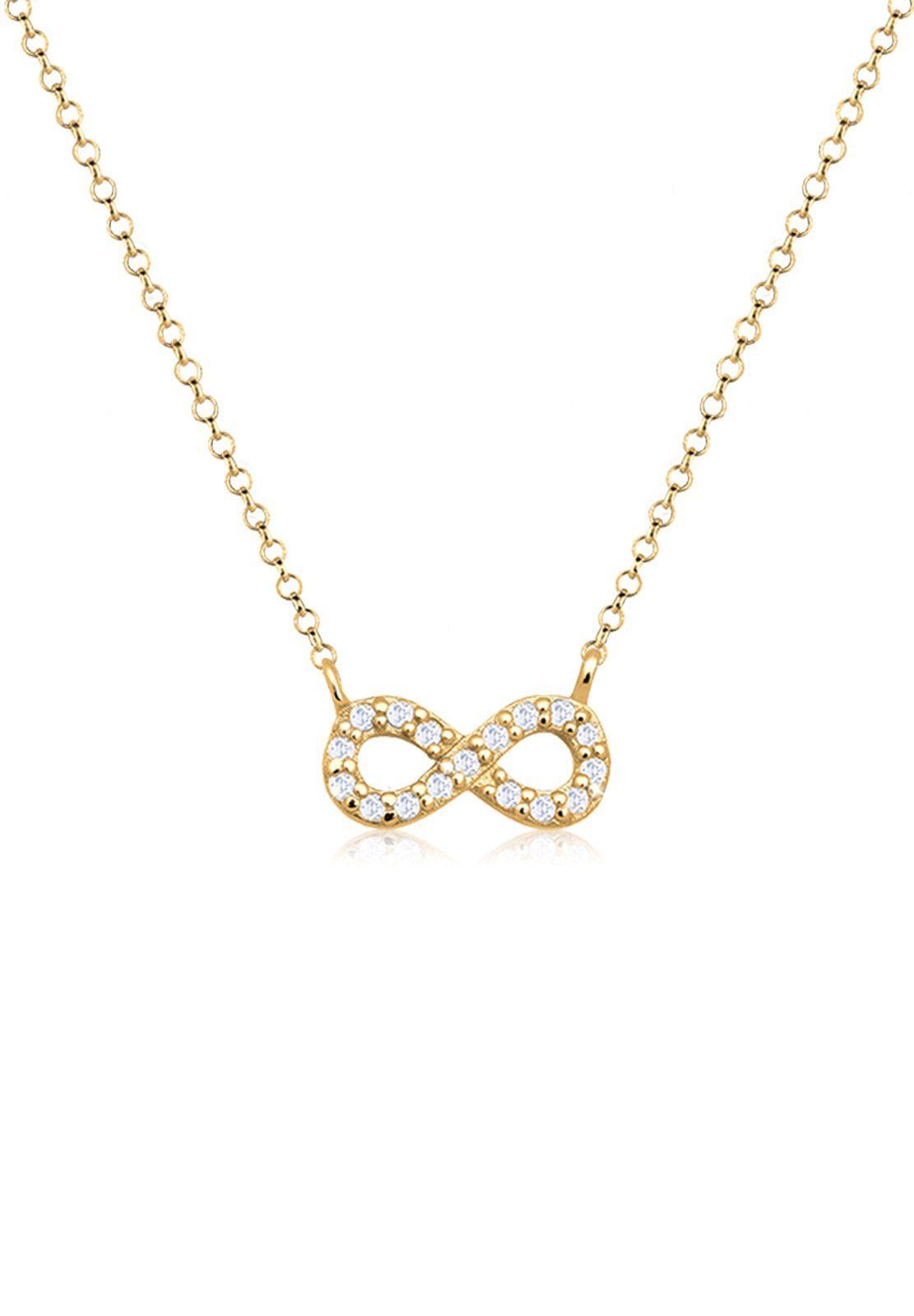 Goldhimmel Halskette »Infinity Zirkonia 925 Sterling Silber«