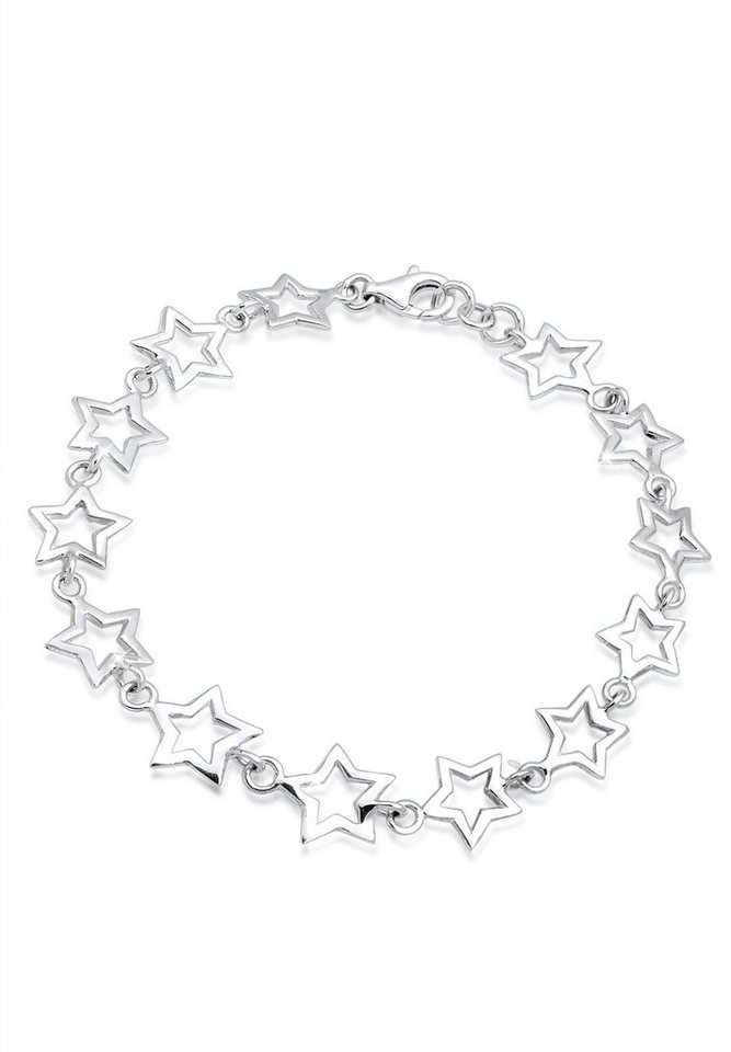 Elli Armband »Sterne 925 Sterling Silber« in Silber