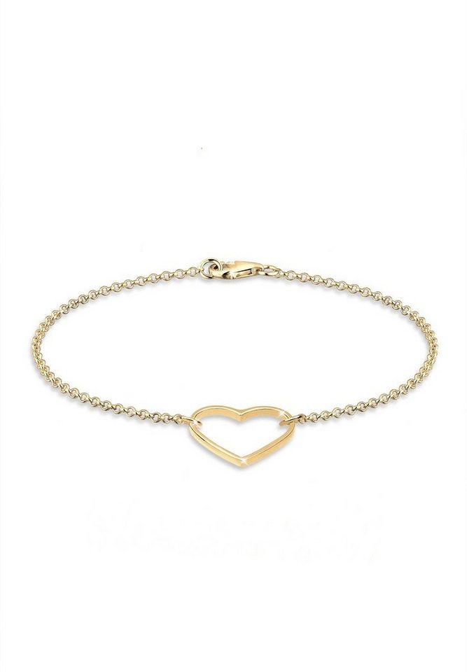 Goldhimmel Armband »925 Sterling Silber Herz vergoldet« in Gold