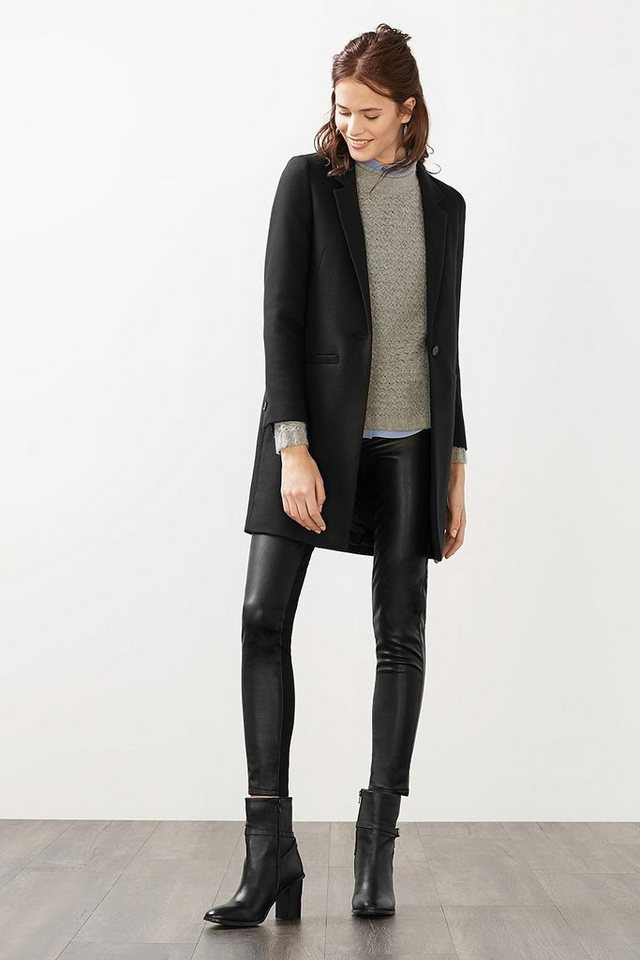 ESPRIT COLLECTION Indoor Twill Blazer-Mantel in BLACK