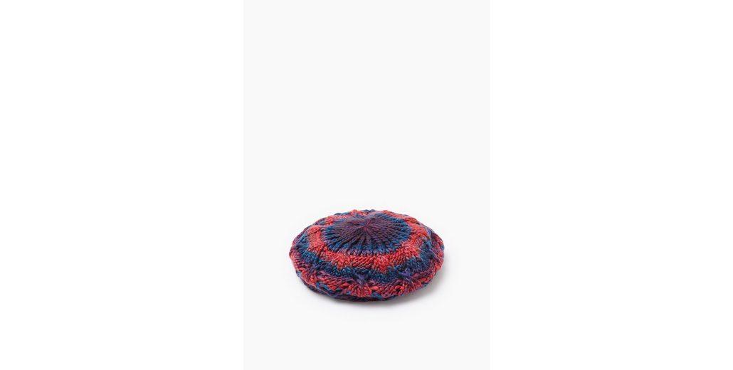 ESPRIT CASUAL Barett aus weichem Strick mit Rauten