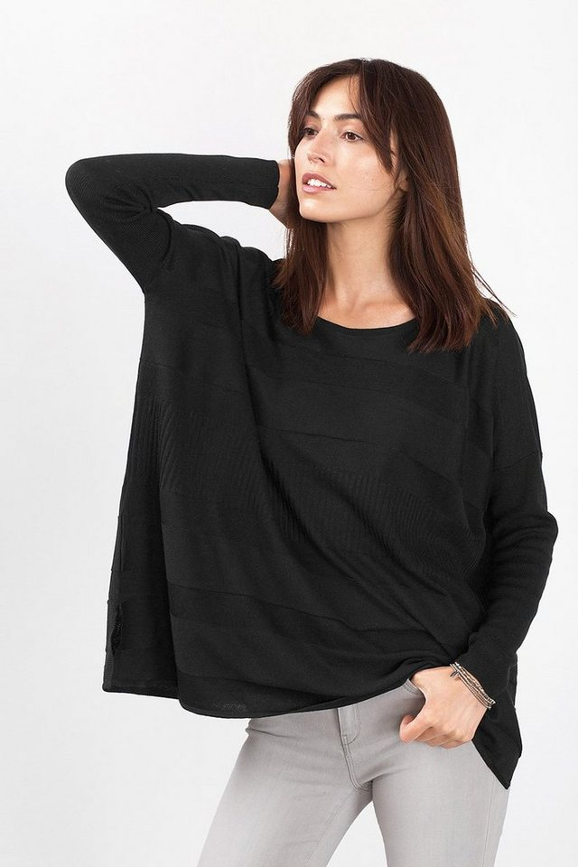 ESPRIT CASUAL Pullover im Poncho-Look in BLACK