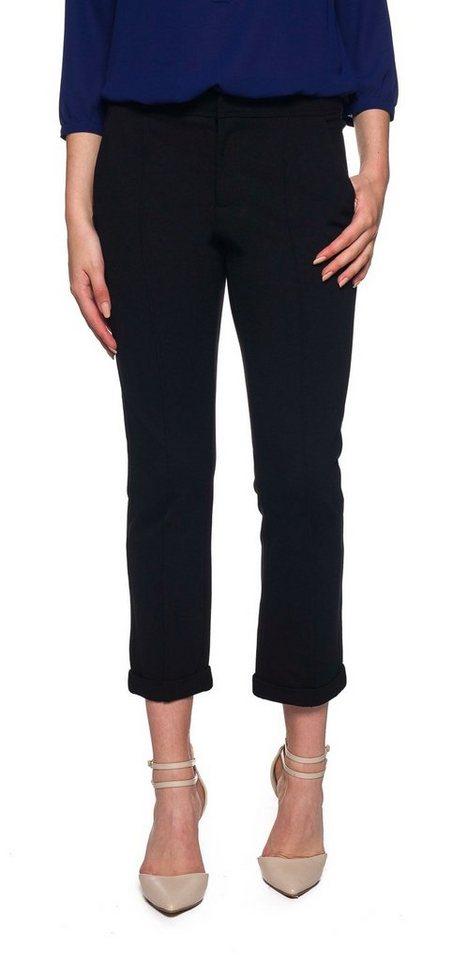 NYDJ Denise Slim Cuffed Ankle Pants in Black