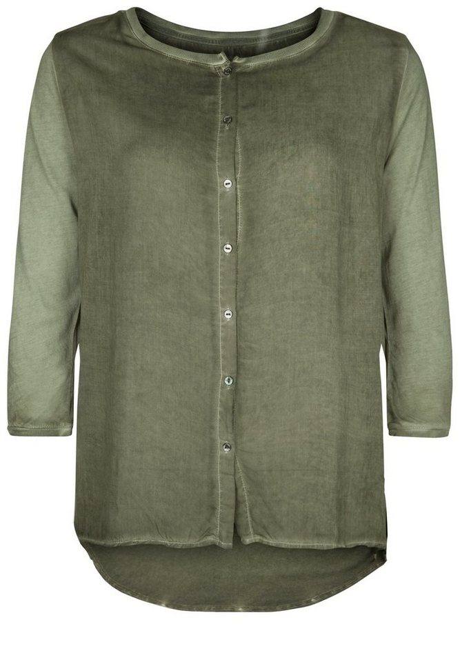 Better Rich Bluse »BUTTON« in forest green