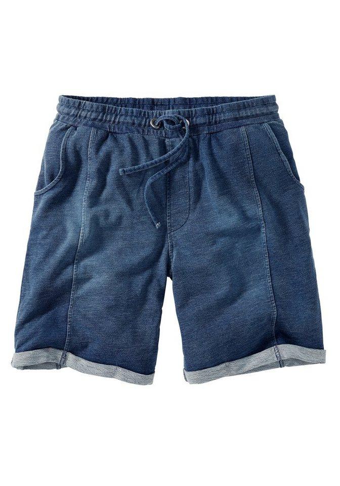 Eddie Bauer Pigment Wash Sweatshorts in Blau