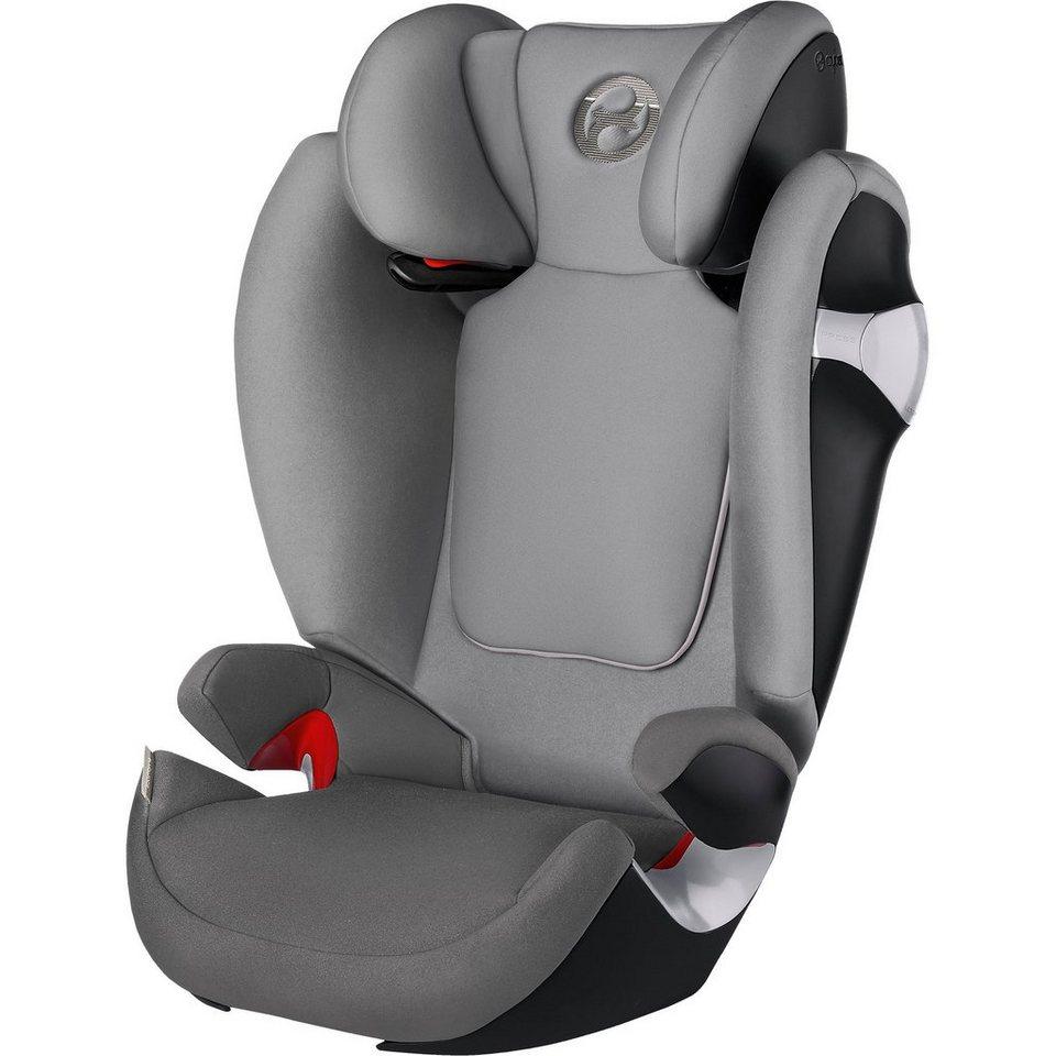 Cybex Auto-Kindersitz Solution M, Gold-Line, Manhattan Grey-Mid Gr in hellgrau