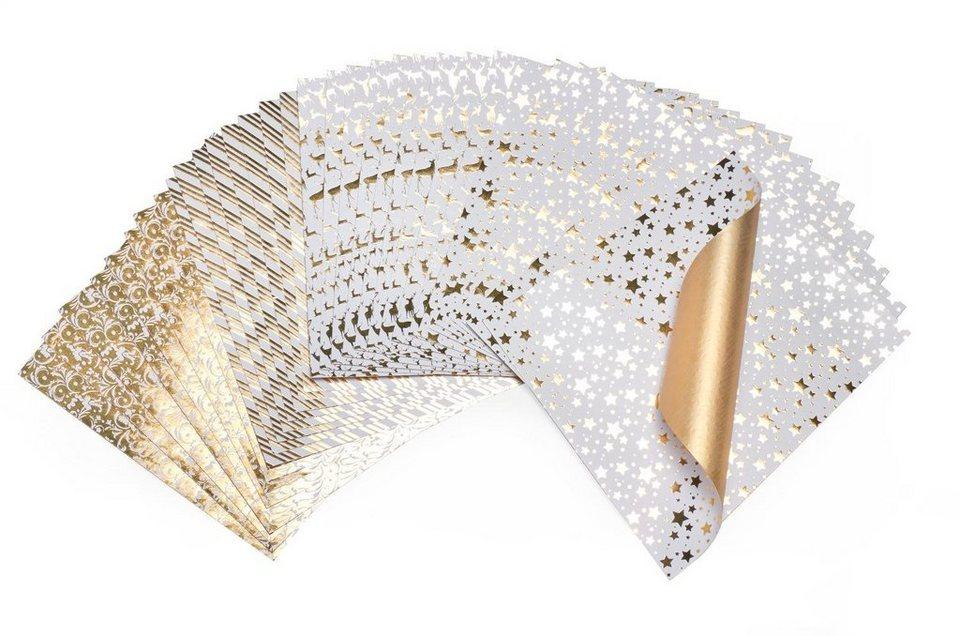 """Faltpapier """"Golden Glamour"""""""
