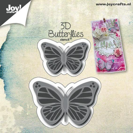 """3D-Stanz- & Prägeschablone """"Schmetterling"""""""