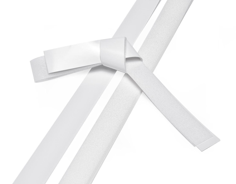 """Papierstreifen """"Glitter, weiß"""", 25 mm"""