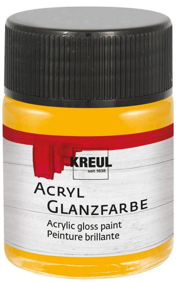 Kreul Acrylfarbe Kreul Glazfarbe 50 ml Malfarbe in Dunkelgelb