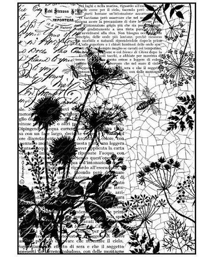 "Stamperia Motiv-Strohseide ""Art de Fleur"""