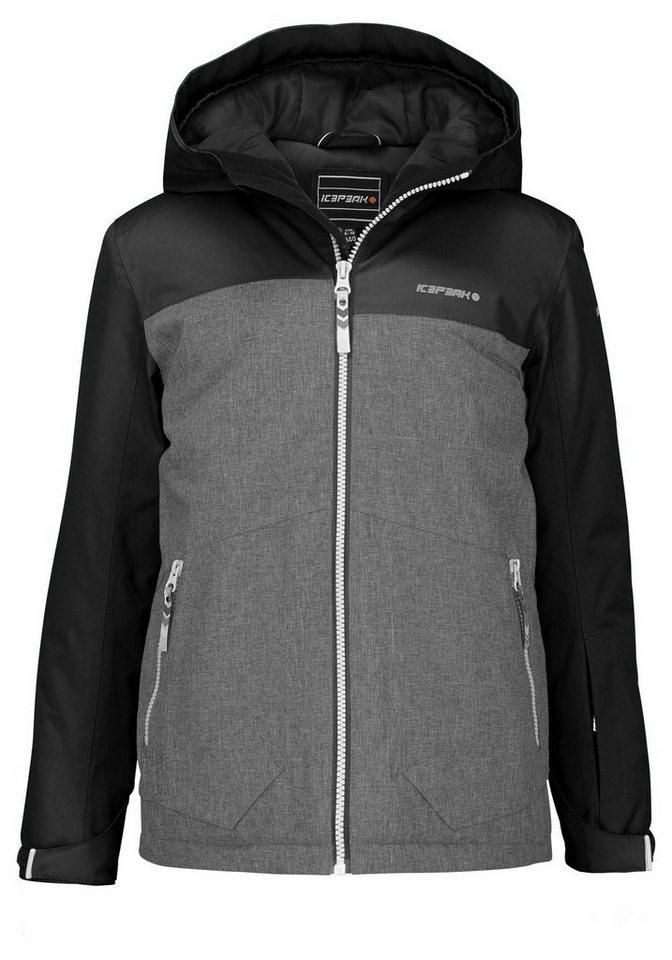 Icepeak Skijacke »HARRY« Wind- und wasserdicht in grau-schwarz