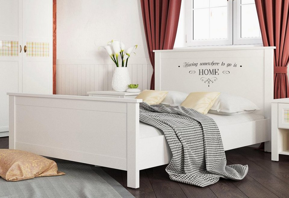 home affaire bett sonya mit dekorativem schriftzug online kaufen otto. Black Bedroom Furniture Sets. Home Design Ideas