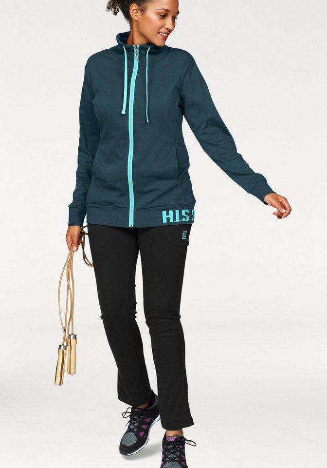 H.I.S Jogginganzug (Set, 2 tlg), Große Größen | Sportbekleidung > Sportanzüge > Jogginganzüge | Grün | H.I.S