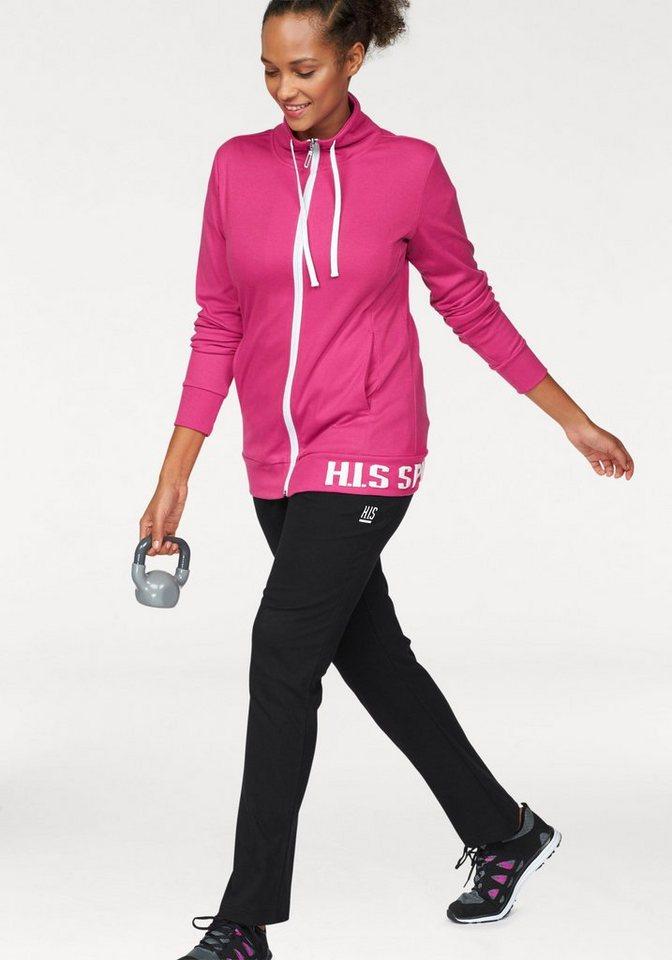 H.I.S Jogginganzug (Set, 2 tlg), Große Größen | Sportbekleidung > Sportanzüge > Jogginganzüge | Rosa | H.I.S