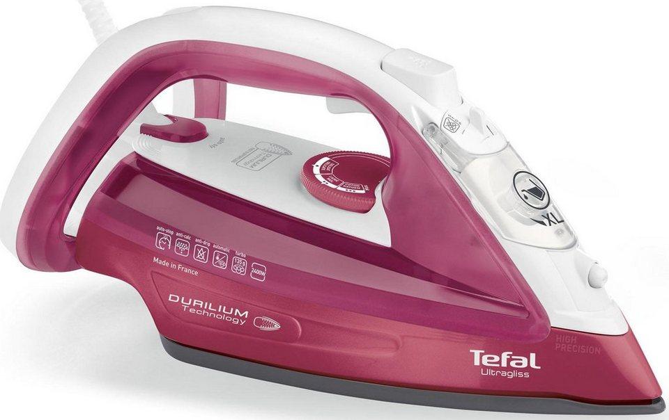 Tefal Dampfbügeleisen FV4920 Ultragliss, Antikalk-System, extra Dampfstoß 140 g/min, rot/weiß in rot/weiß