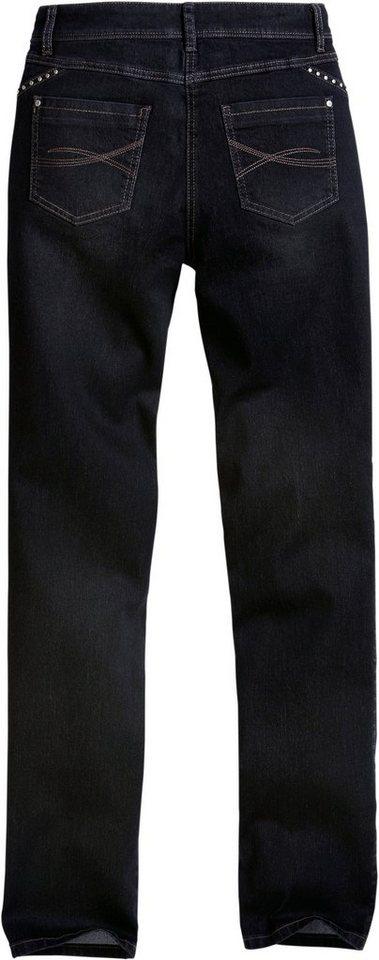 Collection L. Jeans mit modischer Waschung in black-denim