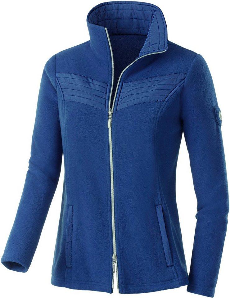 Collection L. Fleece-Jacke mit Antipilling-Ausrüstung in royalblau