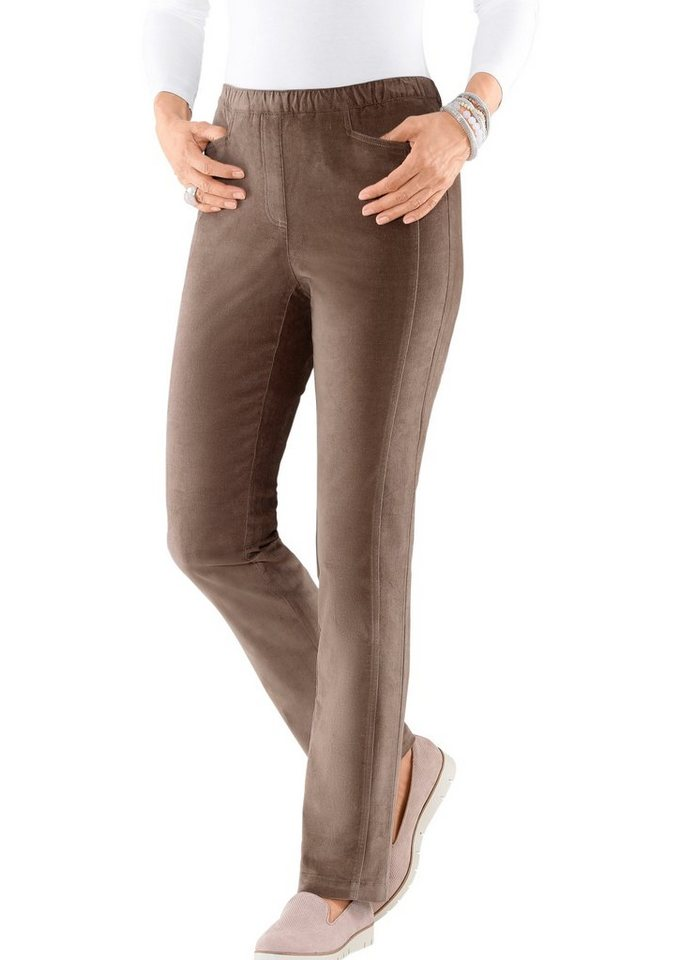 Collection L. Hose in Stretch-Qualität in taupe