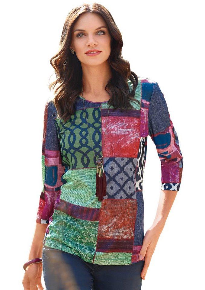 Classic Basics Shirt in toller Patchwork-Optik in bunt-gemustert