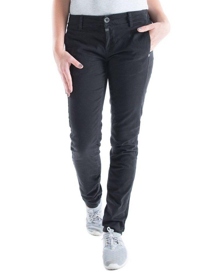 TIMEZONE Hosen lang »FabiaTZ chino pants« in caviar black
