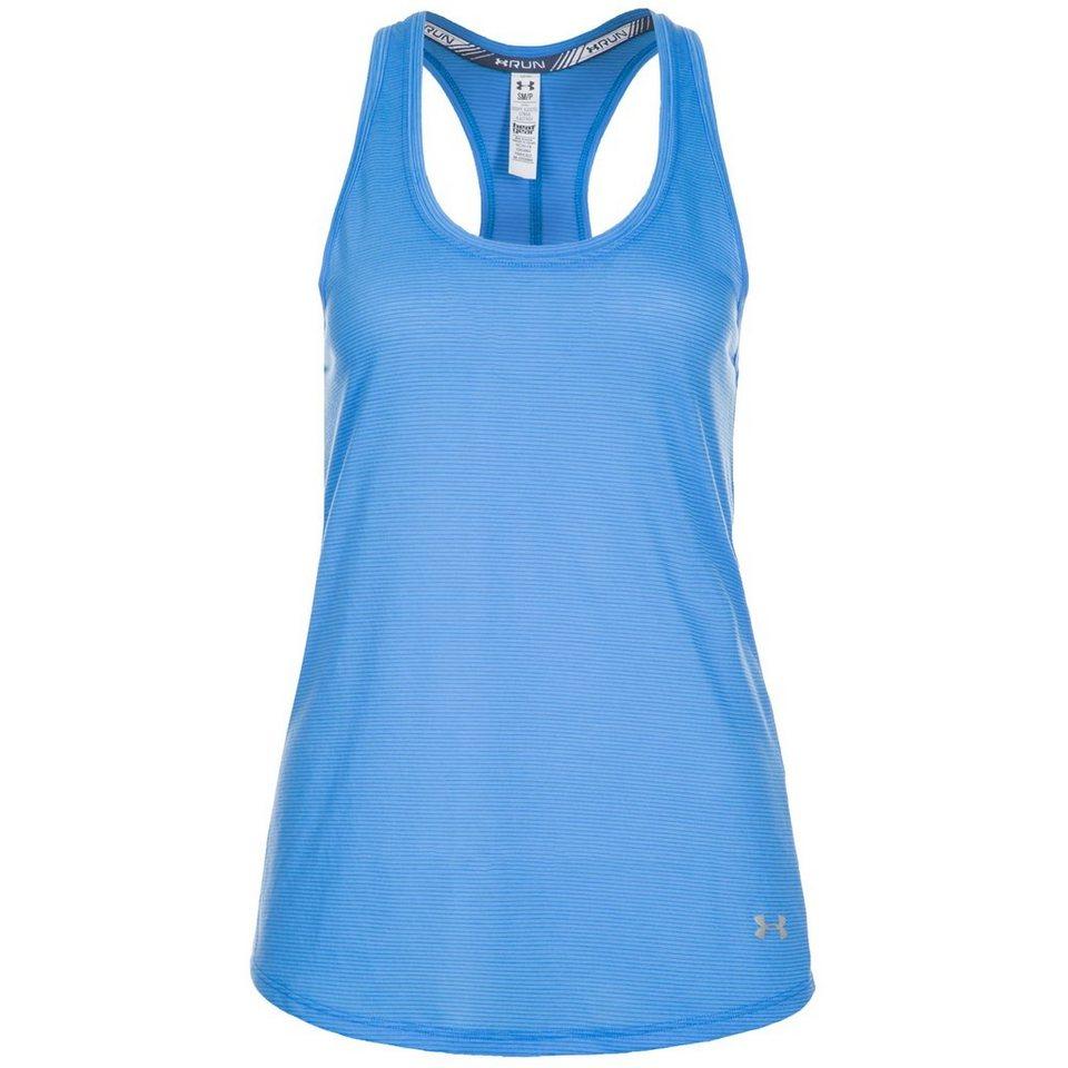 Under Armour® HeatGear Streaker Lauftank Damen in blau / silber