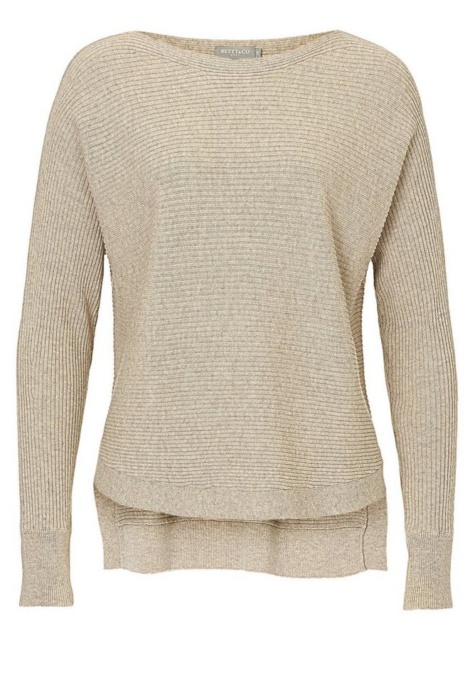 Betty&Co Strickpullover in beige - Braun