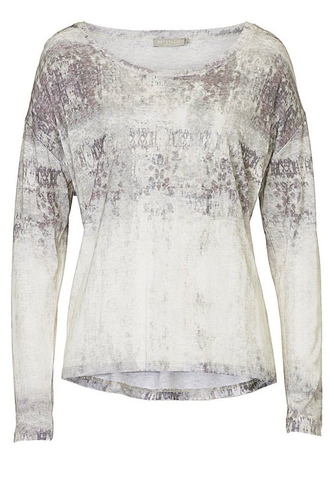 Betty&Co Shirt in Taupe/Violett - Bunt