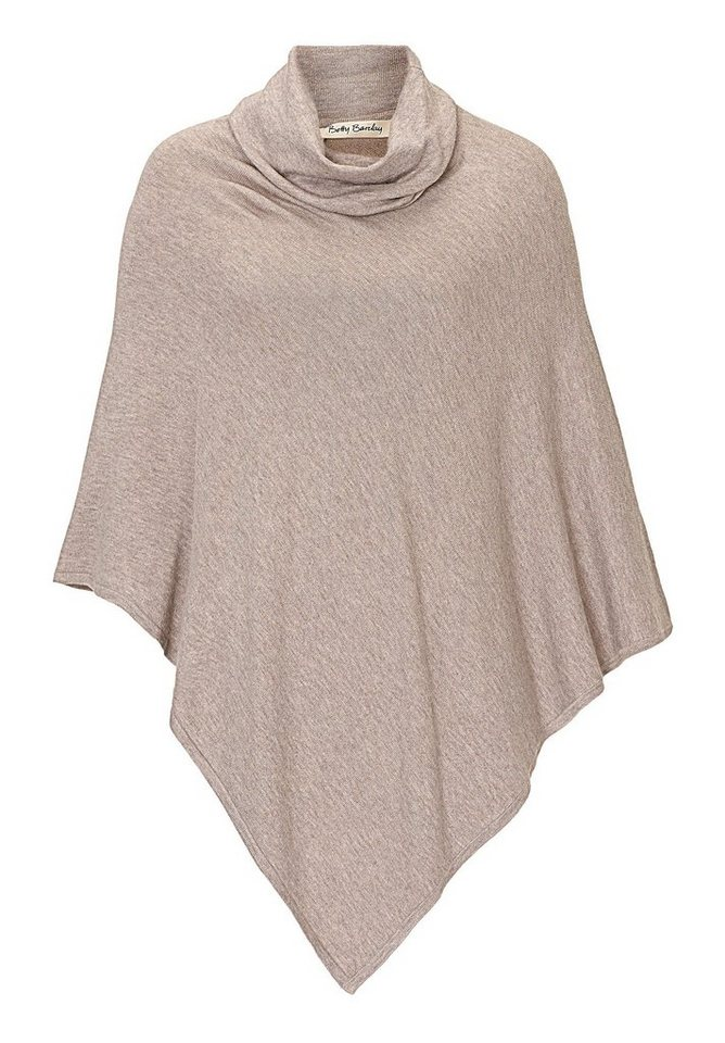 Betty Barclay Poncho in Taupe Melange - Bunt