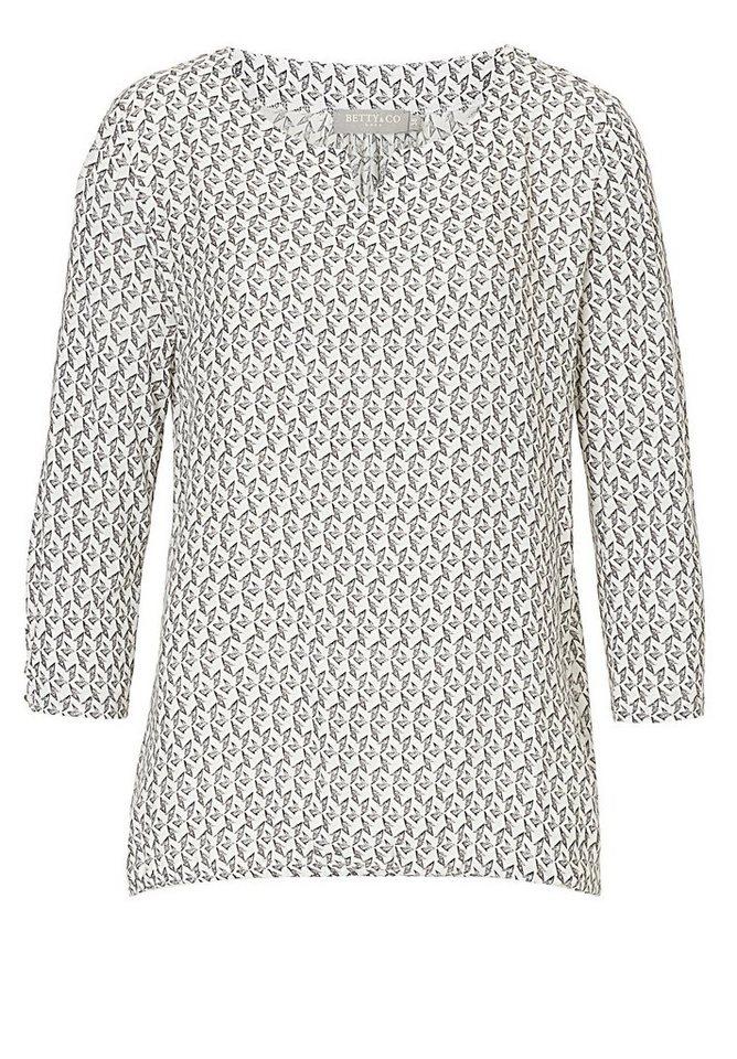 Betty&Co Shirt in Weiß/Schwarz - Bunt