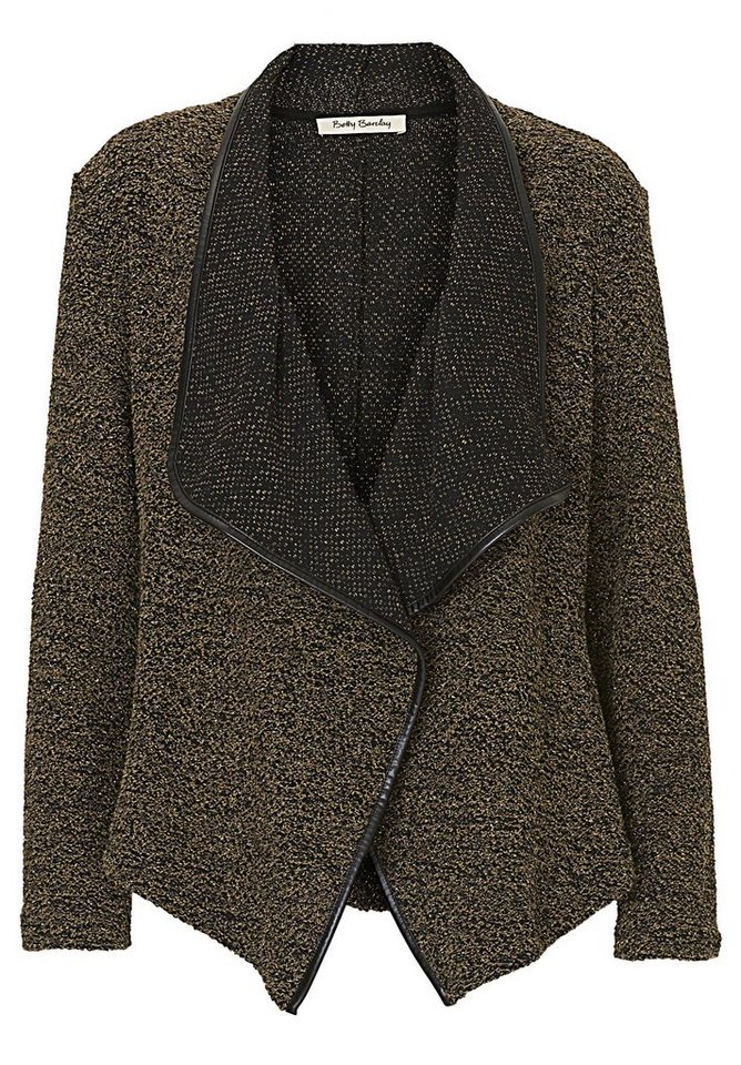 Betty Barclay Strickjacke in Black/Dark Green - B
