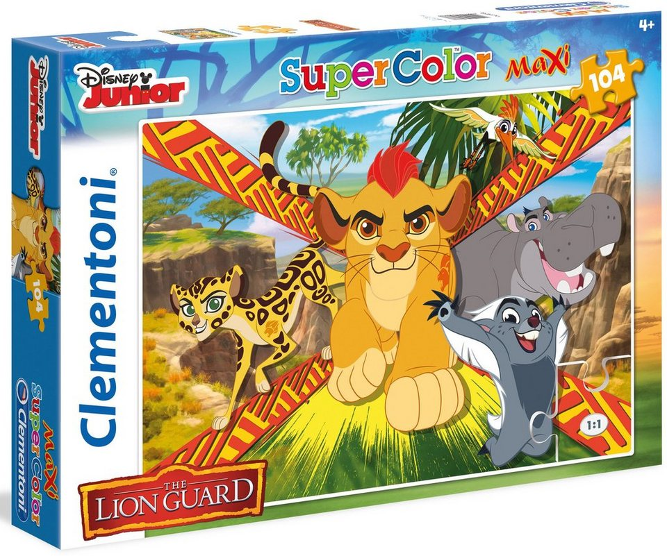 Clementoni Maxi Puzzle, 104 Teile, »Disney Junior The Lion Guard Wild Team«