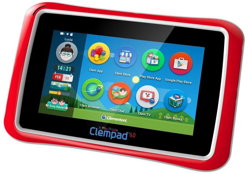 Clementoni Kindertablet mit Eingabestift und Hülle, »Mein erstes Clempad 6.0 S (8 GB, 7-Zoll)«