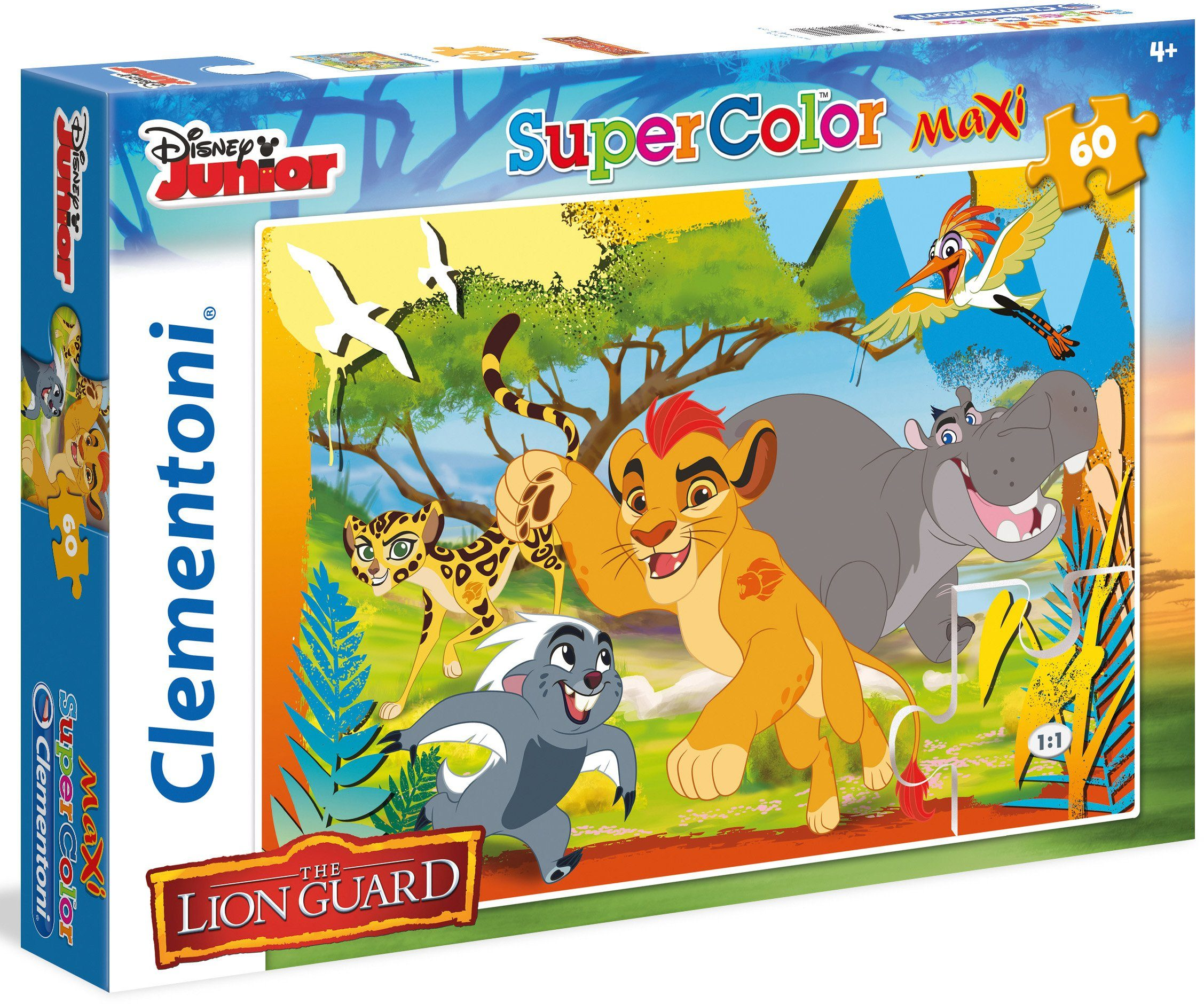 Clementoni Maxi Puzzle, 60 Teile, »Disney Junior The Lion Guard Always«