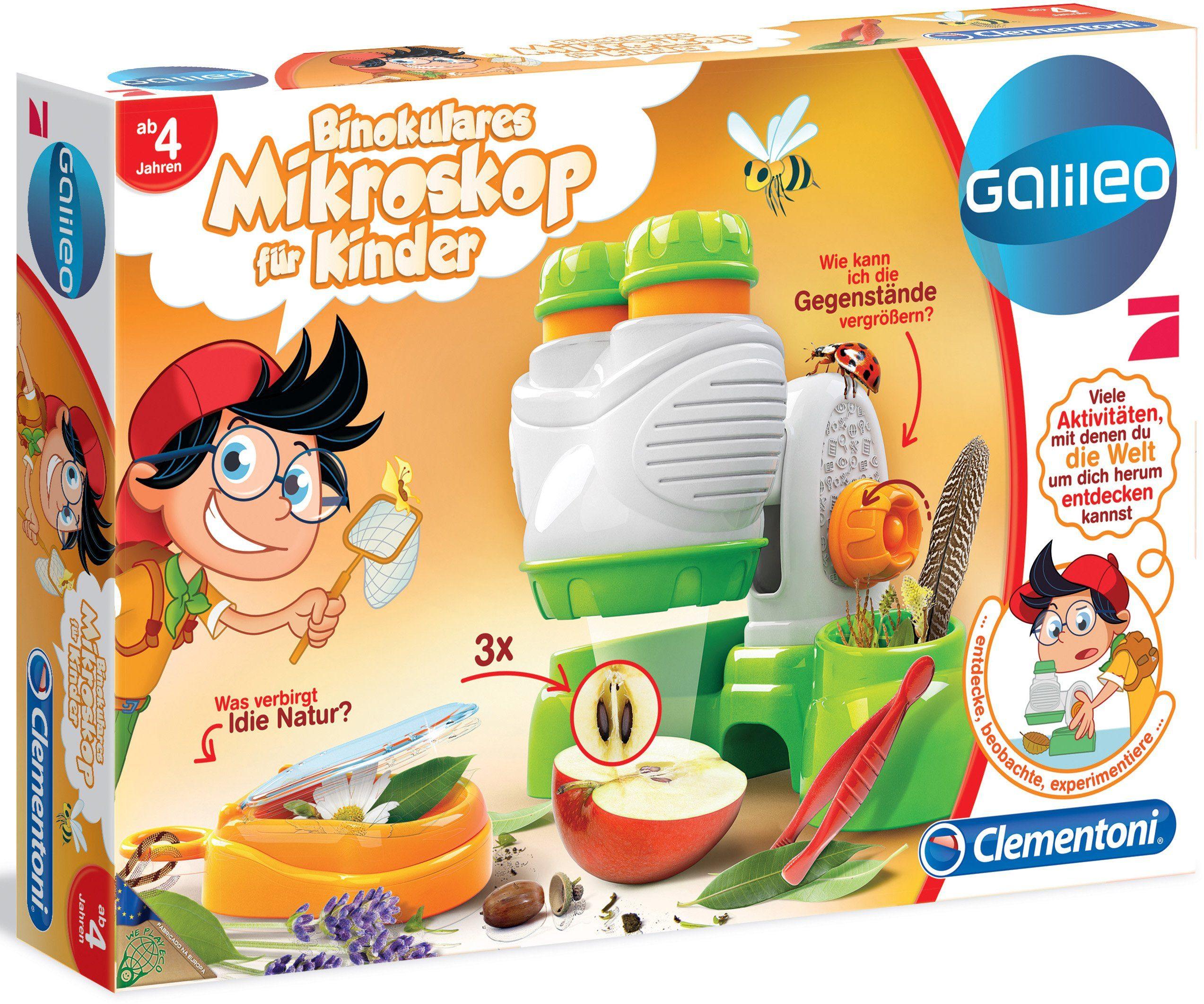 Clementoni Experimentierkasten, »Galileo Binokulares Mikroskop für Kinder«